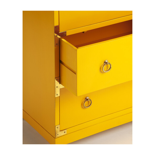 Ardennes Large Campaign Chest, Yellow