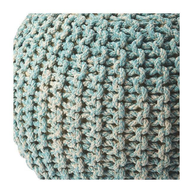 Knit Floor Pouf, Green