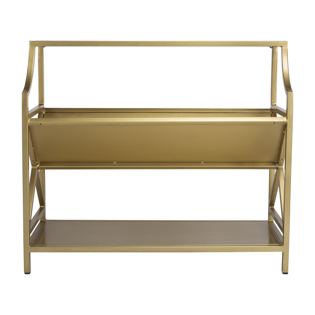 Keats Library Bookcase, Antique Gold