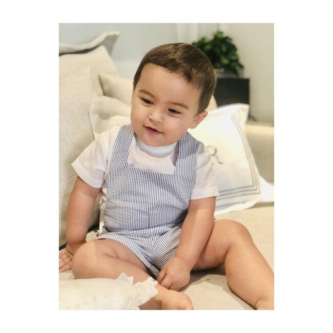 Nicolo Baby Boy Romper, Navy Stripes