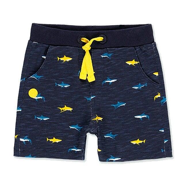 Shark Bermuda Shorts, Navy