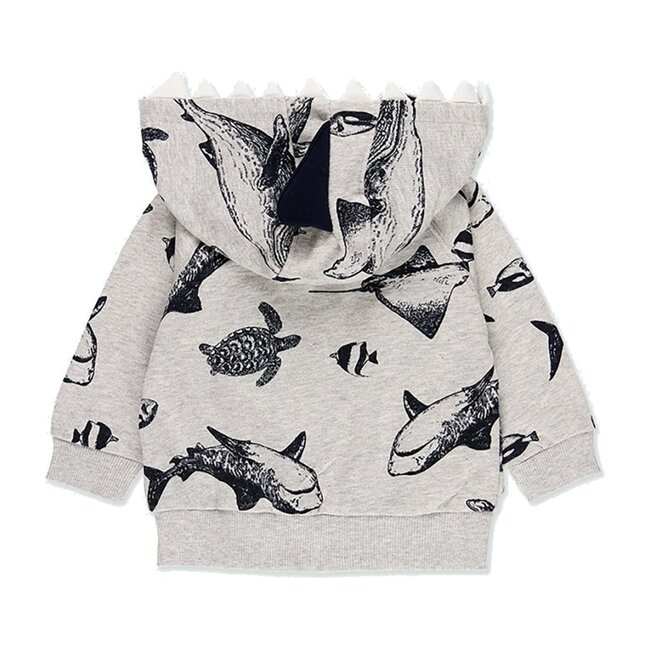 Shark Fleece Jacket, Gray