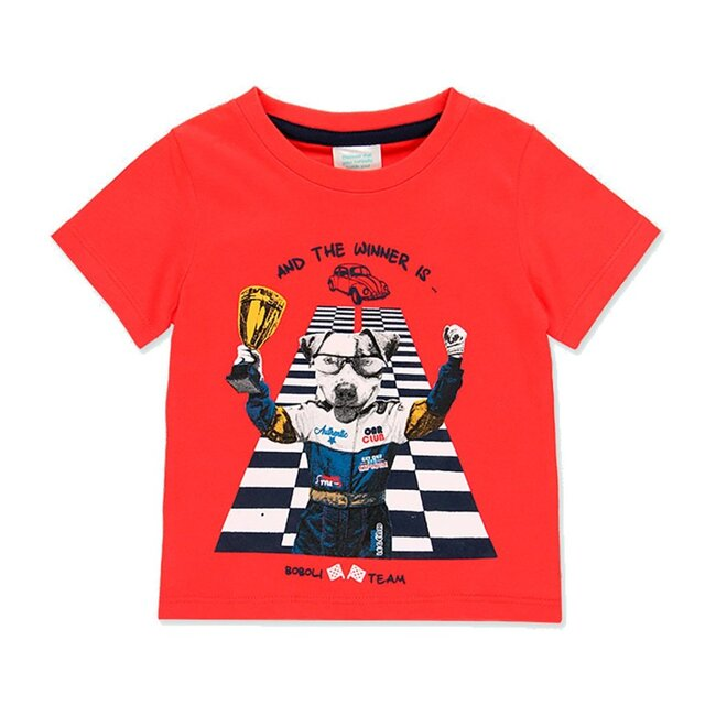 Puppy Graphic T-Shirt, Red