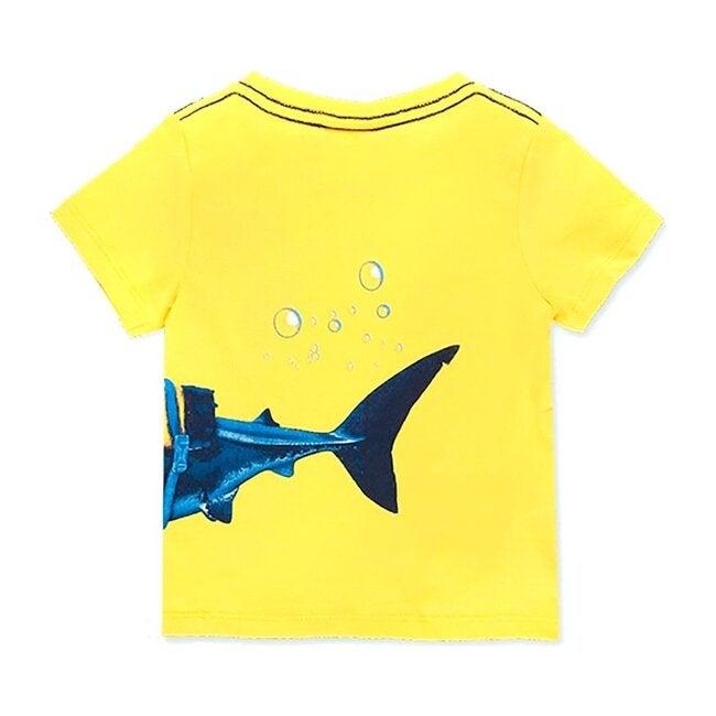 Ocean Print T-Shirt, Yellow