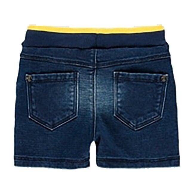 Knit Denim Bermuda Shorts, Blue