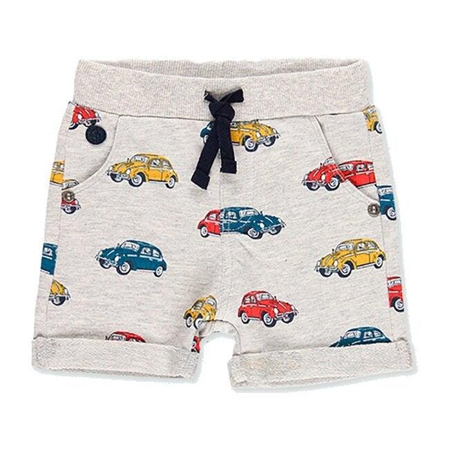 Fleece Bermuda Shorts, Gray