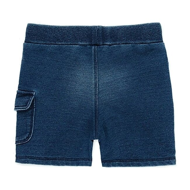 Fleece Bermuda Shorts, Blue