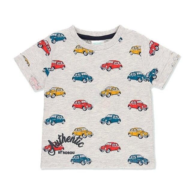 Car Print T-Shirt, Gray