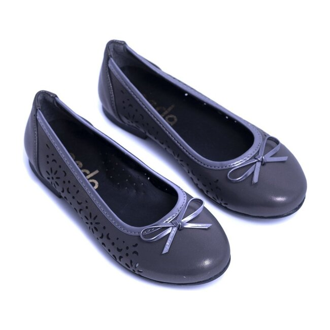 Toddler Perforated Flats, Dark Gray