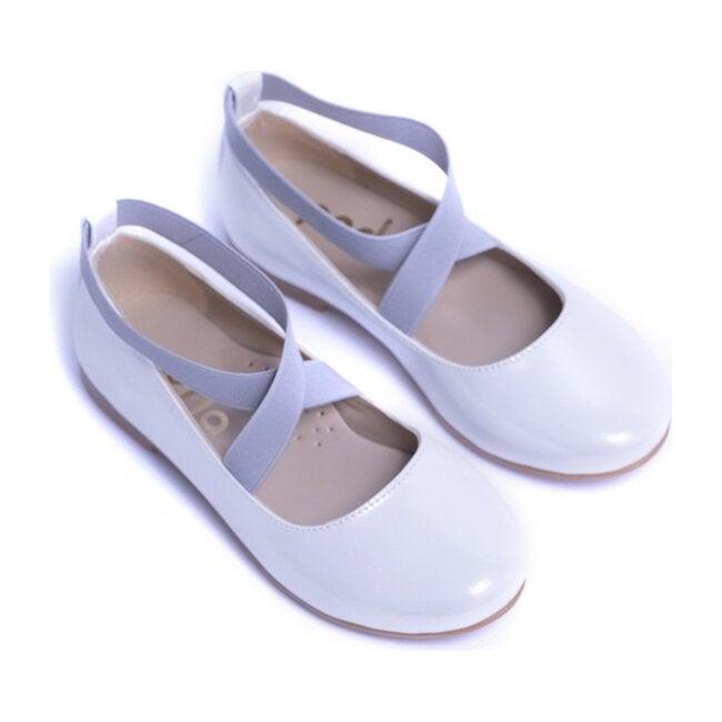 Toddler Satin Ballerina Flats, White