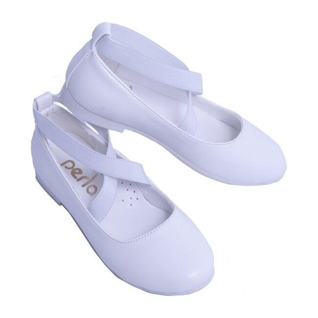 Satin Ballerina Flats, Snow White