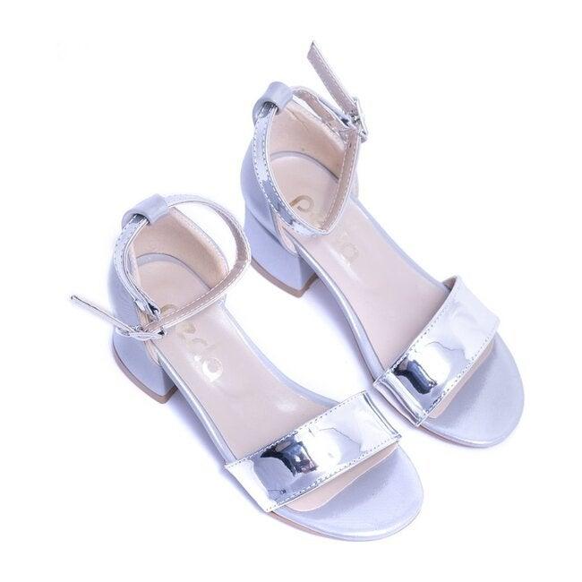 Sandal Strap Heels, Silver