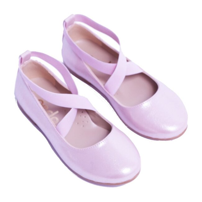 Satin Ballerina Flats, Pink