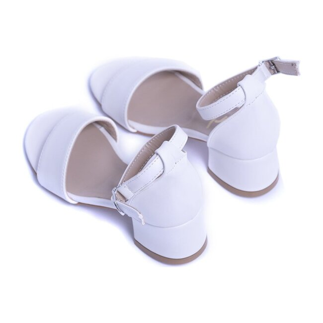 Sandal Strap Heels, Snow White