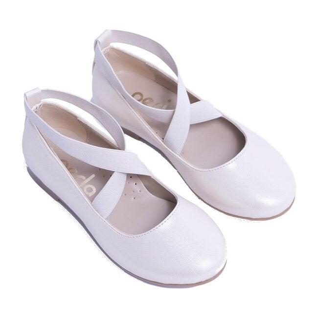 Satin Ballerina Flats, Gold