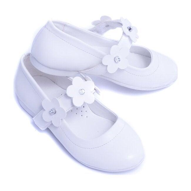 Flower Strap Flats, Snow White