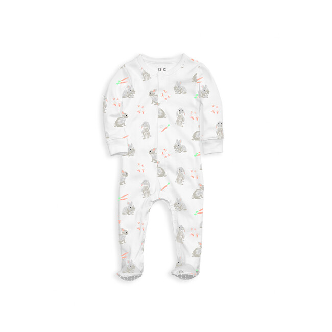Organic Footed Pajama, Bunnies