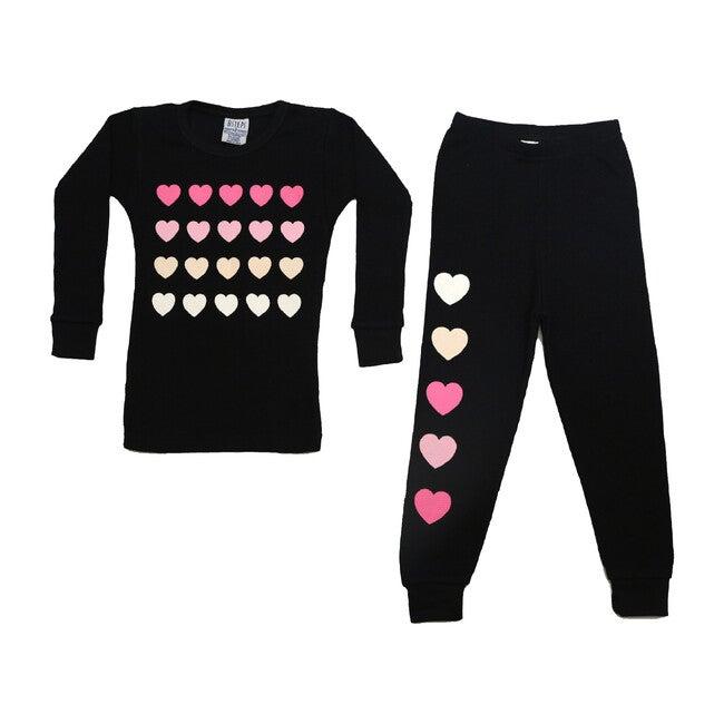 Pajama Set, Pink Hearts