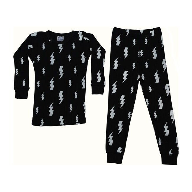 Pajama Set, Black Lightening