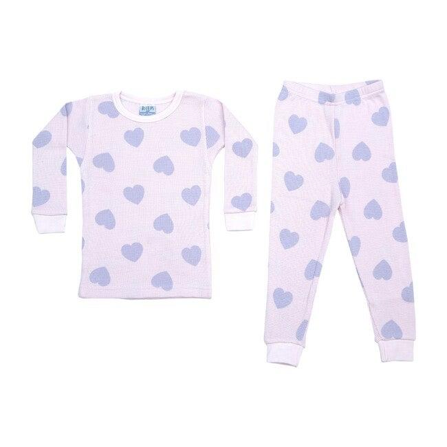 Pajama Set, Pink & Lilac Hearts