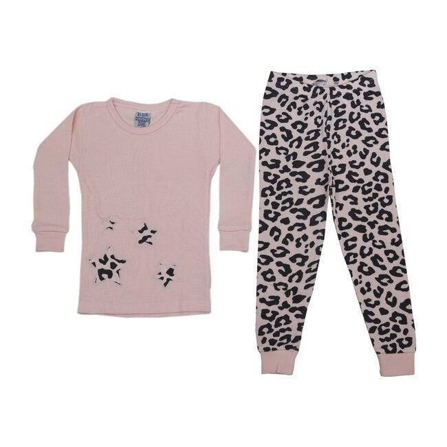 Pajama Set, Cheetah Light Pink