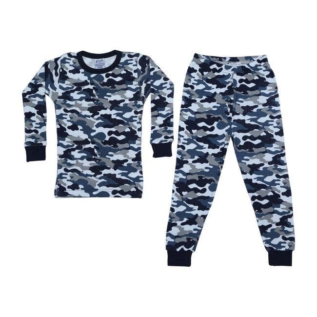 Pajama Set, Camo Navy