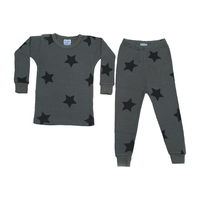 Pajama Set, Black Stars