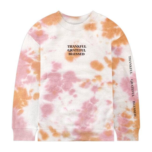 Thankful Tie Dye Sweatshirt, Pink