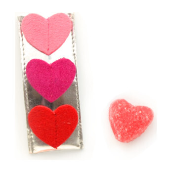 Tripple Heart Clips, Red