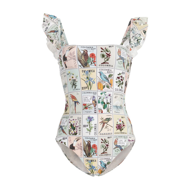 Womens Nativa One-Piece, Postage Stamp - One Pieces - 1