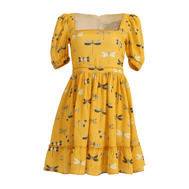 Womens Pomelo Dress, Yellow Dragonfly - Dresses - 1