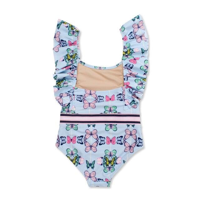 Social Butterfly Ruffle Shoulder Swimsuit