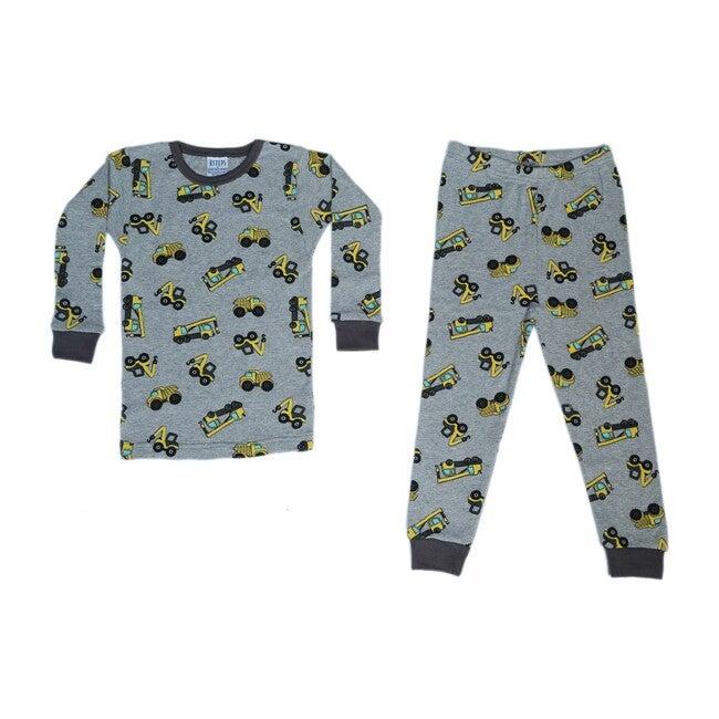 Pajama Set, Heather Grey Construction