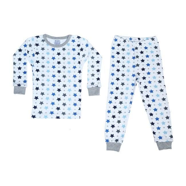 Pajama Set, White Stars