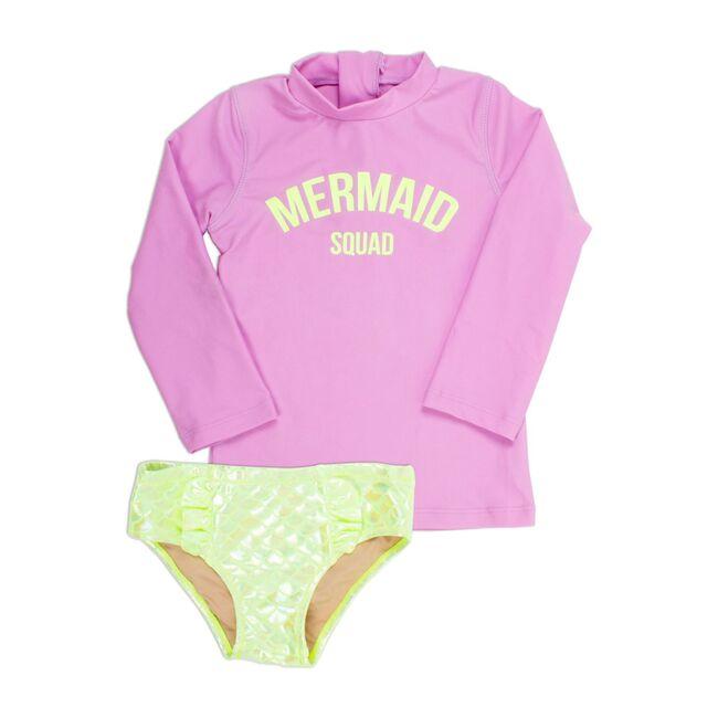Rashguard Set, Mermaid Squad Citron & Purple