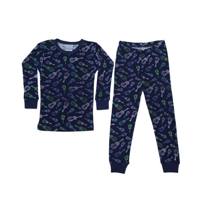 Pajama Set, Navy Guitars - Pajamas - 1