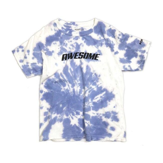 Awesome T-Shirt, Blue Tie-Dye