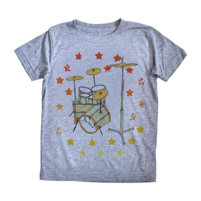 Drums T-Shirt, Grey