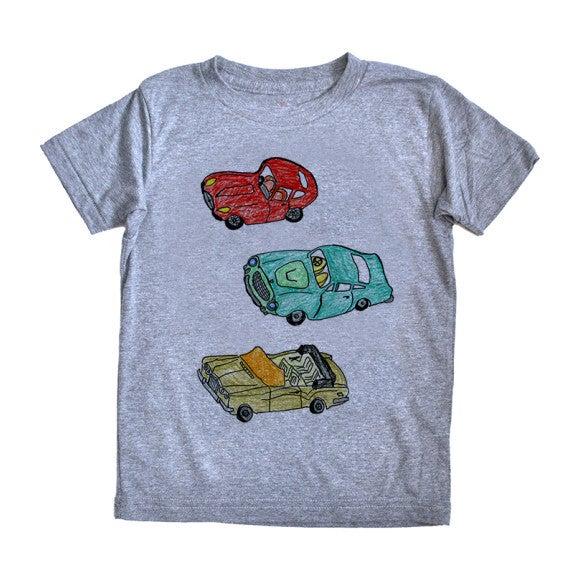 3 Cars T-Shirt, Grey