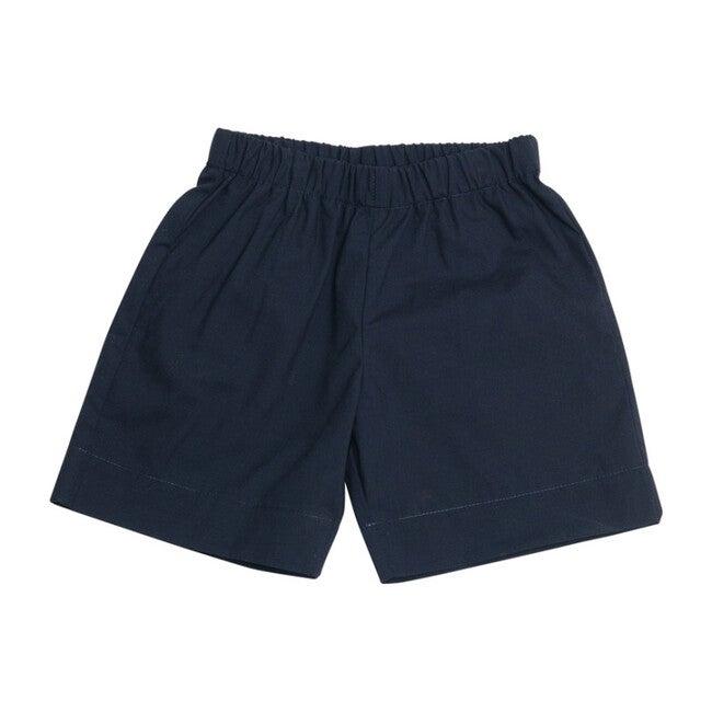 Jd Pull-On Shorts, Navy Cotton Poplin