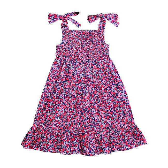 India Shoulder Tie Dress, Florals And Hearts