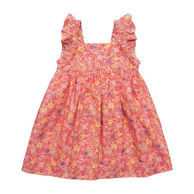 Sawyer Flutter Sleeve Dress, Summer Florals