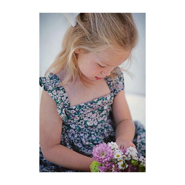 Sawyer Flutter Sleeve Dress, Pink & Green Floral