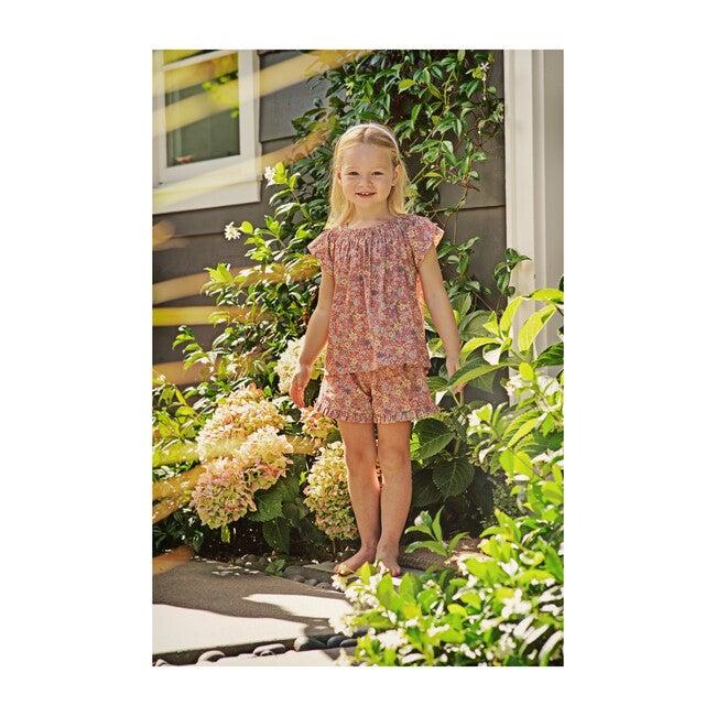 Lee Lee Ruffle Shorts, Summer Florals