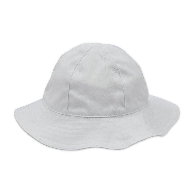Baby Sun Hat,  White Cotton Twill