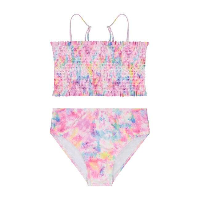 Girls (7-14 Years) Tie Dye 2-Piece Swimsuit, Multi