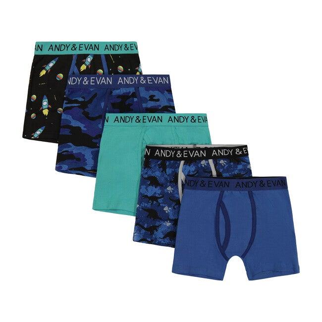 Boys Five Pack Boxer Briefs - Series 1, Blue
