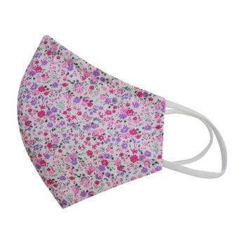 Liberty™ Edition  Cotton Face Mask, Mini Fuschia Floral
