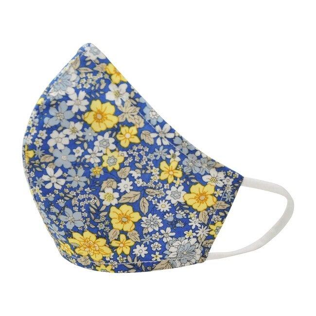 Cotton Face Mask, Spring Blue Floral