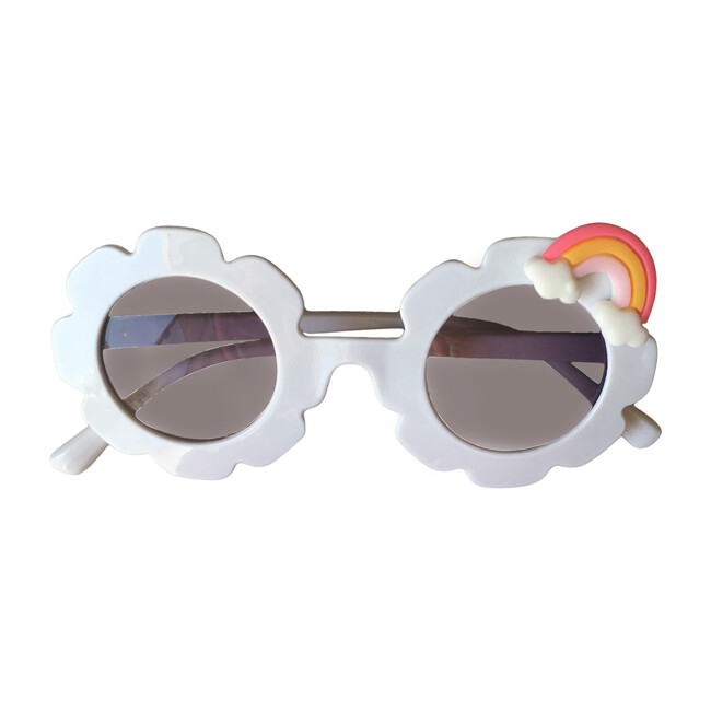 Rainbow Monogrammable Sunglasses, White